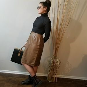 Dresses & Skirts - Toffee Leather Skirt 😍